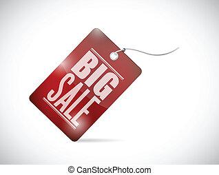 big sale tag illustration design
