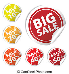 Big Sale tags 10% - 50%