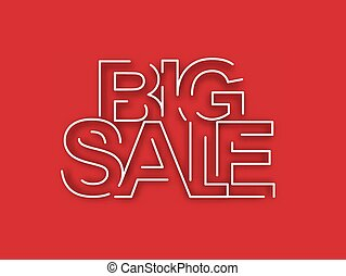 Big Sale Text Design Element.