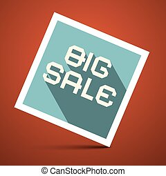 Big Sale Title on Red Background Vector Illustration