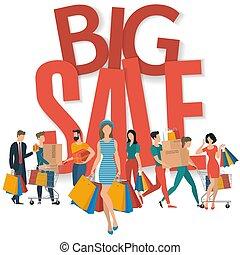 Big sale vector concept