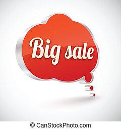 Big sale vector icon, illustration