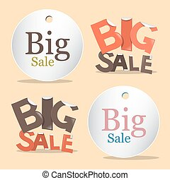 Big Sale Vector Labels - Tags Set