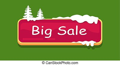 Big Sale Web Button Covered Snow, Online Shopping