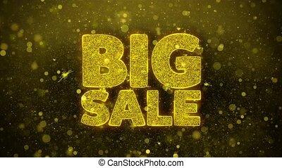 Big Sale Wishes Greetings card, Invitation, Celebration Firework
