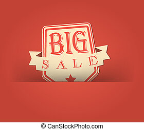 Big sale with retro vintage styled design