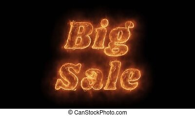 Big Sale Word Hot Animated Burning Realistic Fire Flame...