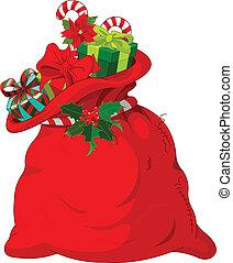 Santa%u2019s sack - Big Santa%u2019s sack full of gifts
