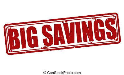 Big savings stamp - Big savings grunge rubber stamp on white...