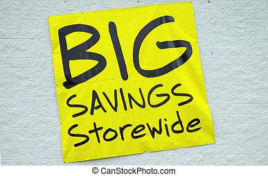 Big Savings Sign