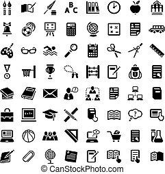 big school icon set