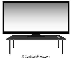 Big Screen TV on Stand
