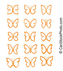Big set butterfly vector