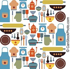 Big Set Kitchen Icon Vector
