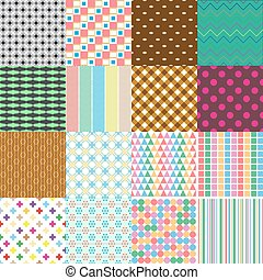 big set of abstract retro seamless simple patterns eps10