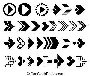 Big set of arrows vector icons