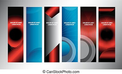 Big set of banner vertical