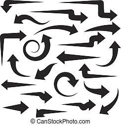 Big set of black arrows for your design
