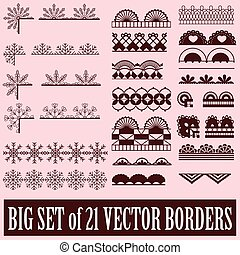 Big set of borders