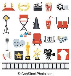 big set of cinema icons