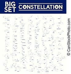Big set of constellations, vector illustration