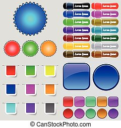 Big set of different colored buttons. Trendy, modern design for your web site. Vector