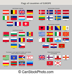 Big set of flags of Asia