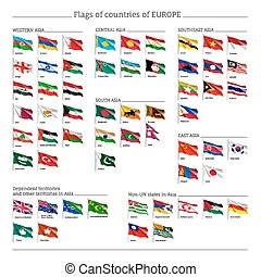 Big set of flags of Europe