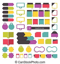 Big set of flat infographic elements. Vector design.