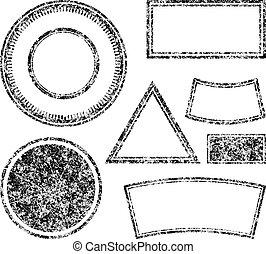 Big set of grunge templates for rubber stamps. Vector illustration.