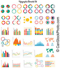 Big set of infographic elements