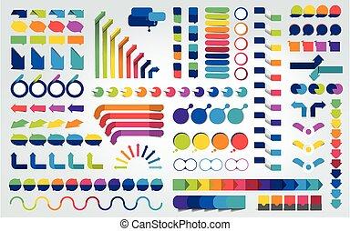 Big set of infographics design elements. Vector illustration.