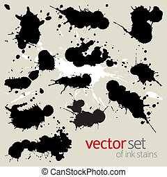 Big set of ink stains - Vector set of ink stains
