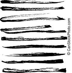 strokes texture in black ink on white