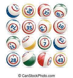 Big Set of Lottery Bingo Balls