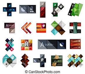 Big set of modern business square templates