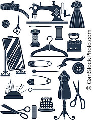 sewing accessories - Big set of sewing accessories. Simple ...