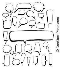 Big set of Speech bubble doodles