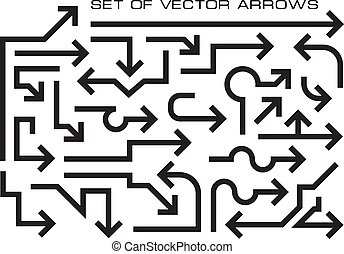 Big set of vector arrows