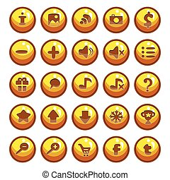 Big set of vector button for game design-4