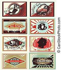 Big set of vector vintage labels for design
