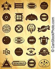 Big set of vintage labels