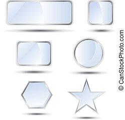 Big set of web buttons. Vector illustration.