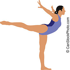 Big set of Woman gymnastic vector