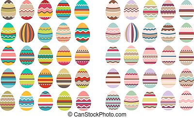 Big set with different eggs