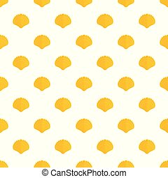 Big shell pattern seamless vector