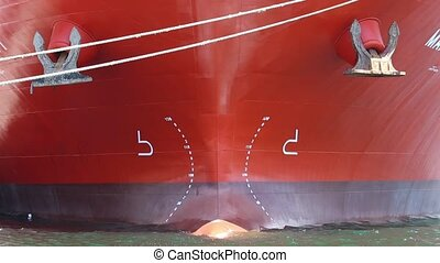 big ship, closeup