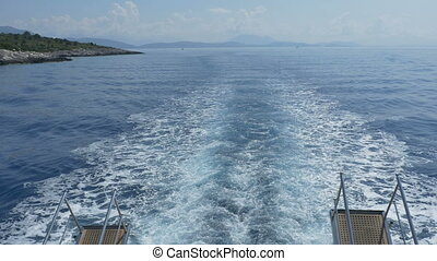 Big Ship Sea Slipstream - Big ship sea slipstream on the...