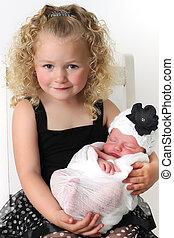 Big sister and baby