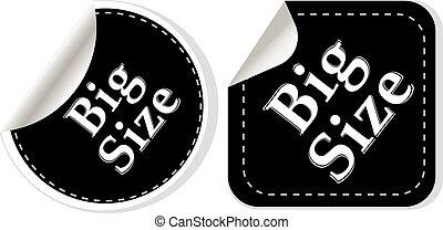 big size clothing stickers set - vector fashion theme